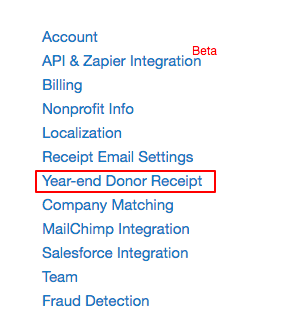 How to edit year-end receipts and year-end emails – Donorbox